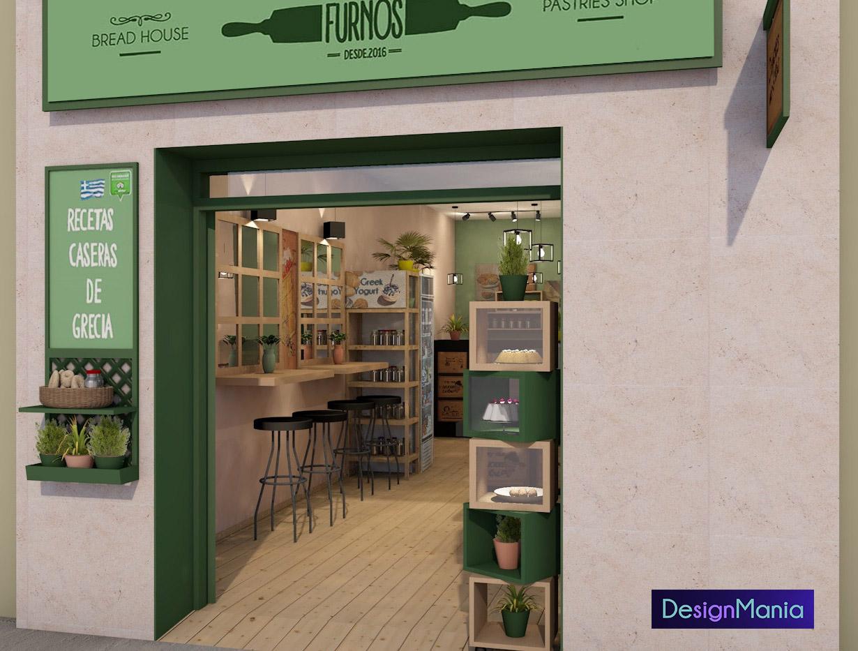 interior design online bakery and pastry shop in barcelona designmania. Black Bedroom Furniture Sets. Home Design Ideas